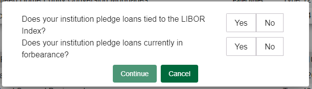 BBC verification of forbearance or LIBOR